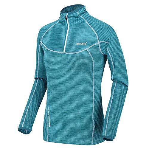 Regatta Yonder Quick Dry Grid Fabric Performance Wicking Zip Neck Fleece T-Shirts/Polos/Westen, Ocean Depths, 12
