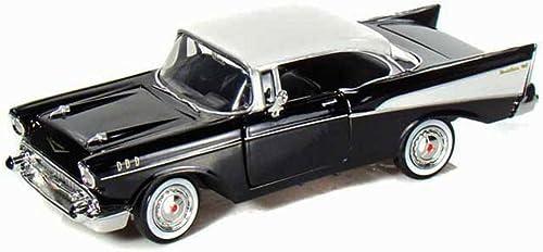 1957 Chevy Bel Air, noir - Motormax Premium American 73228 - 1 24 Scale Diecast Model voiture