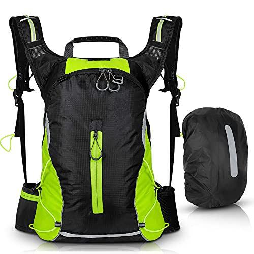 Bicycle Cycling Backpack,Waterproof Ultralight Bike Rucksack Sports Daypack Bags Hydration Backpack, Cycling gifts for men Women Daily Commutes, Jogging, Hiking,Skiing, Trekking (with Rain Cover)