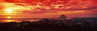 High angle view of city at sunset Morro Bay San Luis Obispo County California USA Poster Print by Panoramic Images (18 x 6)