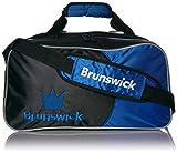 Brunswick Crown Double Tote Bowling Bag, Royal
