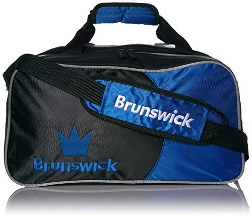 Brunswick Crown Double Tote mit Schuh Tasche Bowling Bag, Royal
