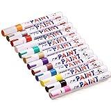 12-farbiges Mehrzweck-Marker-Set, wasserdichte Filzstifte, für Reifen, Metall, Glas, Stoff, Malen, Animationsdesign, Zeichnen, Kunst, Stifte mit Tragetasche