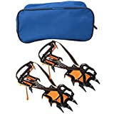 Ginyia Crampons, 1 Pair 12 Gear Spring Claw Crampons Boots Non-Slip Ski Ice...