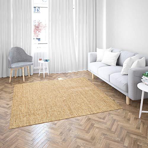 Oedim Alfombra Madera PVC | 200 cm x 200 cm | Moqueta PVC | Suelo sintasol | Decoración del Hogar