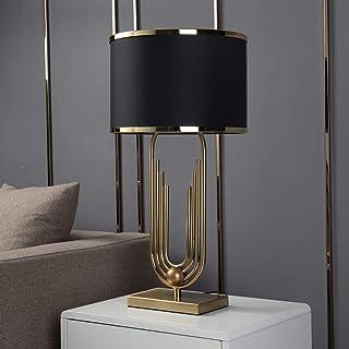 Américaine Moderne en Métal Lampe De Table, Tissu Noir Et Créatif Temps Abat Lampe Design Corps, Adapté À La Vie De La Lam...