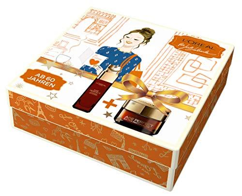 L'Oréal Paris Extra reichhaltiges Pflege Geschenk-Set für sehr trockene Haut, Age Perfect Manuka...