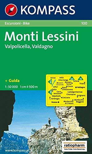 Carta escursionistica n. 100. Trentino, Veneto. Monti Lessini, Gruppo della Carega, Recoaro Terme 1:50000: Escursion / bike