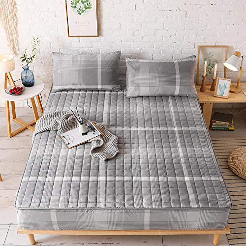 unknow Bed Sheet, Pure Cotton Quilted Bed Sheet, Washed Cotton Bed Cover, Mattress Protector, Simple And Fashionable Bed Sheet