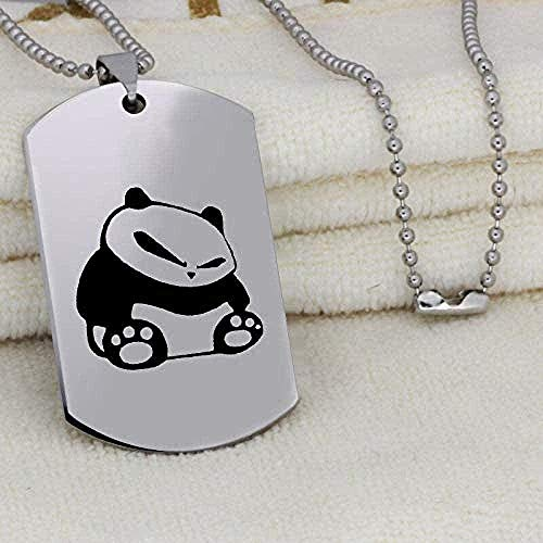FACAIBA Necklace Giant Panda Pendant Necklace for Men Unique Engraved Stainless Steel Jewelry Initial Necklace Gift
