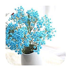 PrettyR Gypsophila paniculata Home Decoratins Artificial Silk Fake Flowers Baby's Breath Floral Wedding Bouquet Party Decors N50
