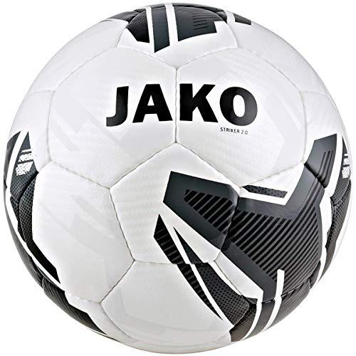 JAKO Trainingsball Striker 2.0 Fußbälle, weiß/anthrazit, 5