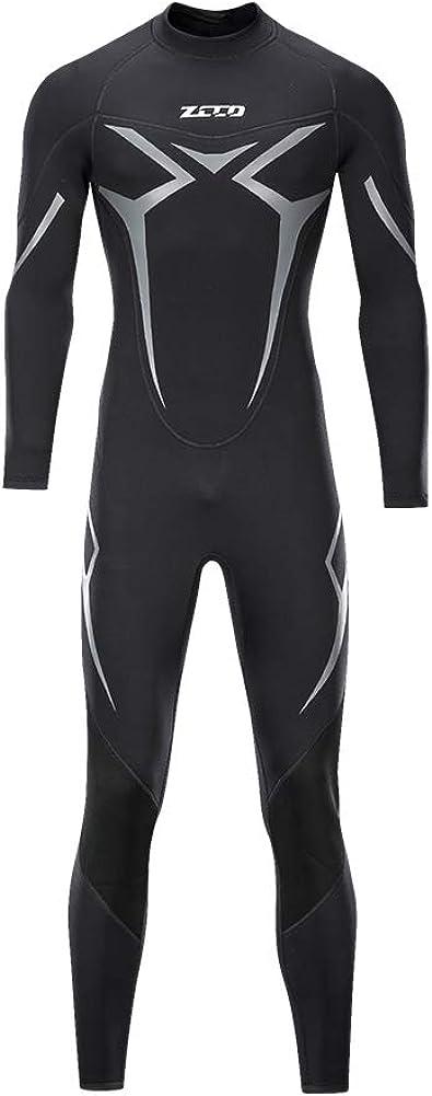 ZCCO Wetsuits - Traje de neopreno para hombre, 3 mm, manga completa, para pesca submarina, esnórquel, surf, canoa, buceo, trajes húmedos