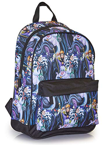 Disney Maleficent Damen Rucksack Tasche, Schulrucksack Für Teenagers, Schulranzen Mit Gepolsterten Trägern, Backpack Teenagers, Gym Bag, Reisetasche, Geschenke Für Frauen, Disney Fanartikel