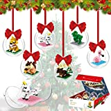 PANLOS Christmas Tree Pendant DIY Building Bricks Toys Filled Christmas Balls Ornaments Party Decoration Gifts Building Toy Set for 6 7 8 9 10+ Years Old Boys & Girls(541 PCS Bricks)