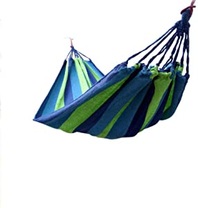QWE Hammock outdoor single double thick canvas anti-rollover indoor college dormitory dormitory children s swing chair