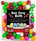 SportzGo Beer Pong Plastic Balls Bulk - 144 Pack of Washable Balls for Beer Olympics Drinking Games Table...