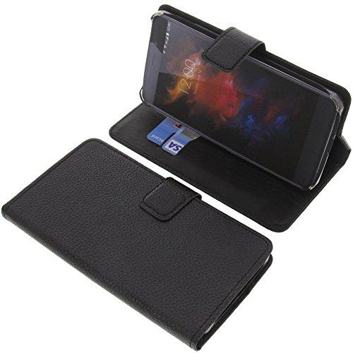 foto-kontor Tasche für UMIDIGI Max Book Style schwarz Kreditkarte Schutz Hülle Buch