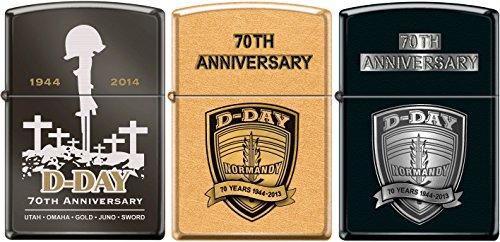 Zippo D-Day 3 Lighter Set 70th Anniversary Commemorative Lighters 1944