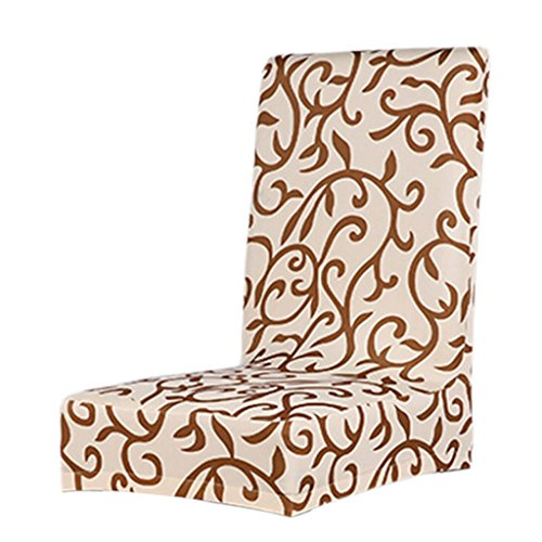 m.g.d funda de silla de comedor protectora extraíble Stretch champagne+brown talla única