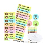 Pack 155 etiquetas personalizadas para marcar ropa y objetos. 100 Etiquetas de tela termoadhesiva +...