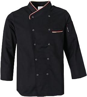 8bc11f8c43c Prettyia Chaqueta de Chef Unisexo Uniforme de Hombre Mujeres Complimentos