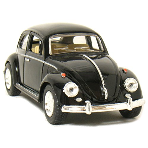 "5"" 1967 Volkswagen Classic Beetle 1:32 Scale (Black) by Kinsmart"