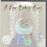 Belly Button Designs hochwertige Glückwunschkarte zur Geburt eines Jungen, ideal auch für Geldgeschenk oder Gutschein. BE184