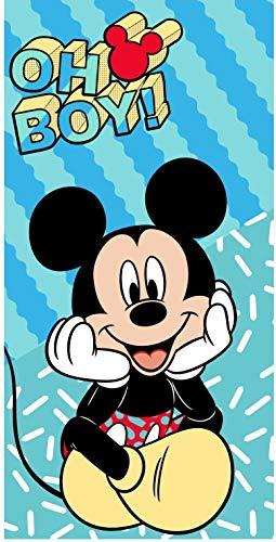 Various Toalla de Playa Infantil con Licencia Oficial Disney (Mickey)