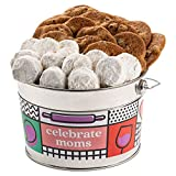 David's Cookies Mother's Day Assorted Cookies Bucket – Thin Crispy Cookies and Pecan Meltaways Treats – Delicious Traditional Recipes – Decorated Bucket Mother's Day Cookies