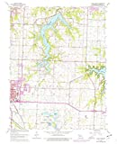 YellowMaps Lake Jacomo MO topo map, 1:24000 Scale, 7.5 X 7.5 Minute, Historical, 1963, Updated 1976, 27 x 21.9 in - Tyvek