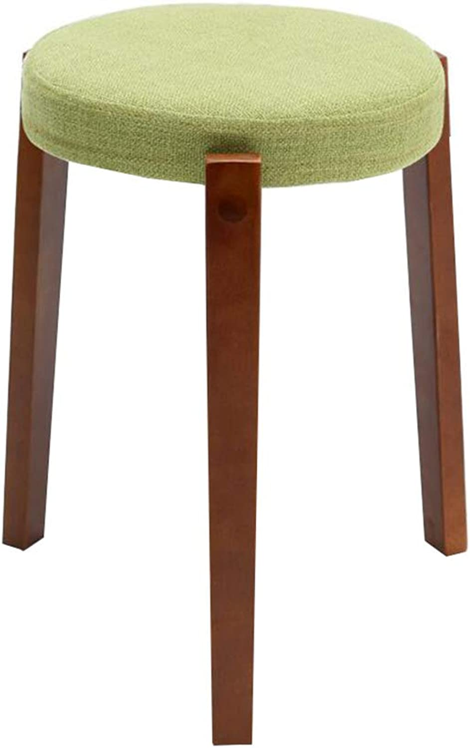 Dall Round Stool Solid Wood Living Room Small Chair Home Fabric Dining Table Bench (color   T5)