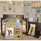 SISI Baby Bedding - Forest Friends 13 PCS Crib Bedding Set by Sisi