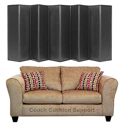 Sofa Cushion Support Board for Sagging Seat, Cushion Saver Support Insert, Loveseat Sagging Cushion Support, Small Couch Furniture Cushion Lifter Support Insert High Density Support, 17x44 inch(Black)