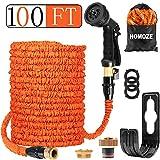 HOMOZE Garden Hose Expandable Hose Pipe 100FT Flexible and Expanding Garden Water Hosepipe