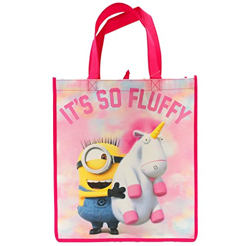 Despicable Me 3! Minions Its So Fluffy! Pink Unicorn Reusable Tote Bag for Kids, Teens, and Adults! Medium