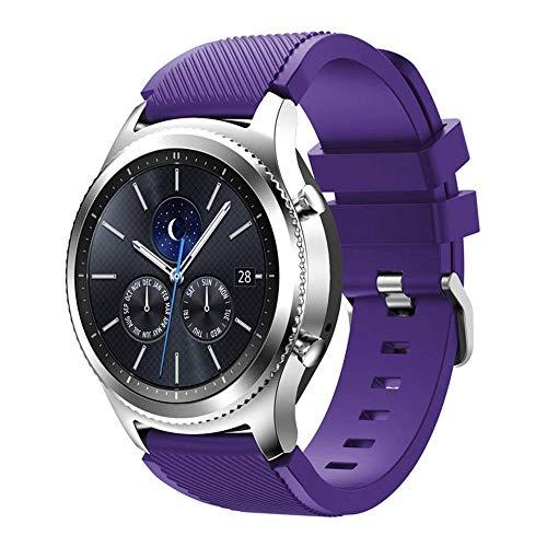 CrestedBand Correa para Samsung Gear S3 Frontier - Pulsera de Silicona para Galaxy Watch 46mm, Banda de Reloj de Silicona Suave Deportiva Pulsera de Repuesto para Galaxy Watch 46mm/ Gear S3/ Gear S4