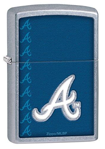 Zippo MLB Atlanta Braves Street Chrome Pocket Lighter