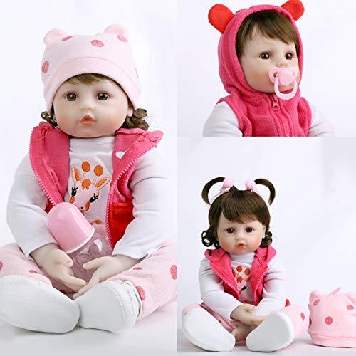 ZIYIUI Realistas Bebé Reborn Muñecas 24 Pulgadas 60 cm Suave Vinilo de Silicona Bebe Reborn niña Recién Nacido Juguetes para niños Mayores de 3 años