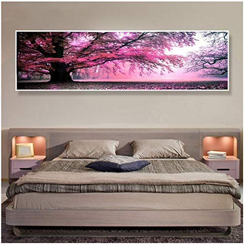 5D Diy Diamond Painting Kit Árbol Full Drill Rhinestone Crystal Embroidery Cross Stitch For Adults Kids Arts Craft Canvas Pictures By Number Set For Living Room Bedroom Wall Decor C7099 80X160Cm