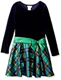 Bonnie Jean Girls' Big Hipster Dresses, Green/Blue Plaid, 16