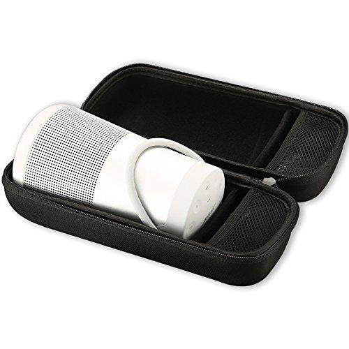 ProCase Custodia Rigida per Bose SoundLink Revolve+, Borsa da Viaggio Antiurto per Bose SoundLink Revolve Plus Altoparlante, Adatta per Charger e Cavo USB -Nero