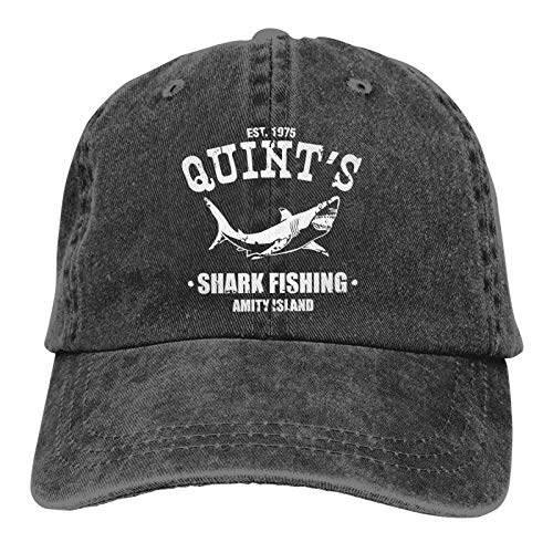 Quints Shark Fishing Jaws Cowboy Cap Unisex Headgear Casquette Baseball Hat Denim Hat