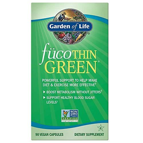 Garden of Life fücoTHIN GREEN - 90 Kapseln I Fucoxanthin I Svetol I Extrakt aus grünen Kaffeebohnen I Entkoffeiniert I Fatburner I Diät I Abnehmen I Natürlich I Roh I Vegan