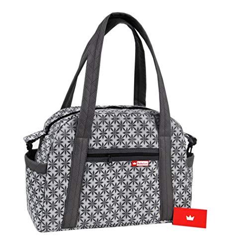 BabyLux Wickeltasche CANDY LUX Kinderwagentasche Baby Windel Tasche Pflegetasche (CandyLux Daisy)