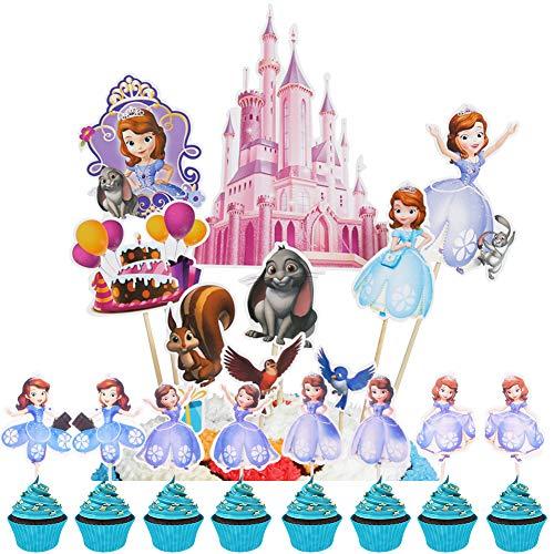 BAIBEI Decorazione Torta Principessa, Decorazione Muffin,...