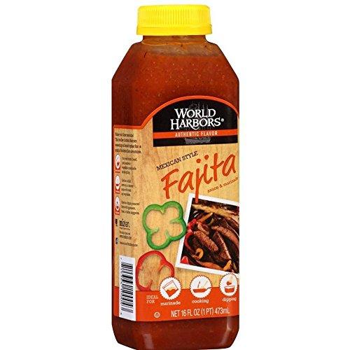 World Harbors Mexican Style Fajita Marinade, 16-fl. oz. plastic bottles (Pack of 12)