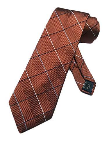 Jos. A. Bank Men's Silk Necktie Joseph A - One Size Neck Tie (Russet Brown)