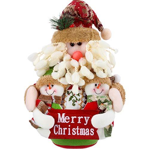 Sumind Christmas Sitting Santa Claus Ornament Table Fireplace Decor Home Decoration Xmas Figurines (25 x 20 cm, Santa Claus)