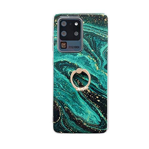 Samsung note20 estuche de silicona para teléfono con hebilla de anillo de mármol ultra dorado, resistente a caídas, ultrafino, brillante, suave, de mármol, TPU, a prueba de golpes y rayones